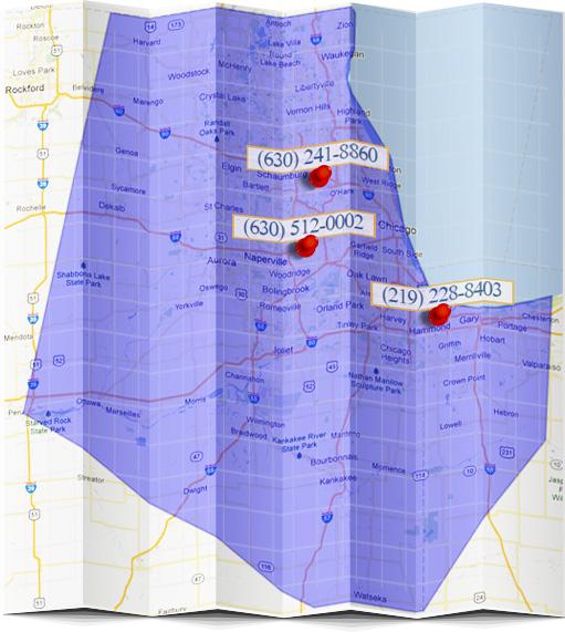 Perma-Seal Service Area Map